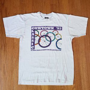 Vintage 90's T-shirt SINGLE stitch Bike Tee 1993 M